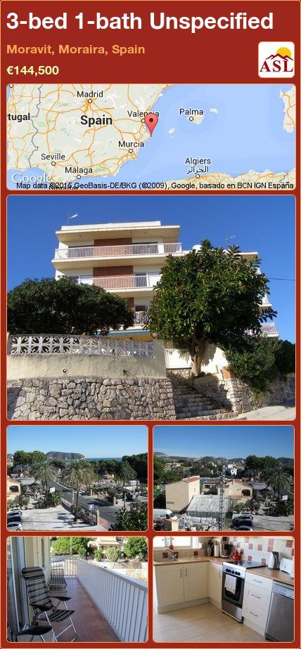 3-bed 1-bath Unspecified in Moravit, Moraira, Spain ►€144,500 #PropertyForSaleInSpain