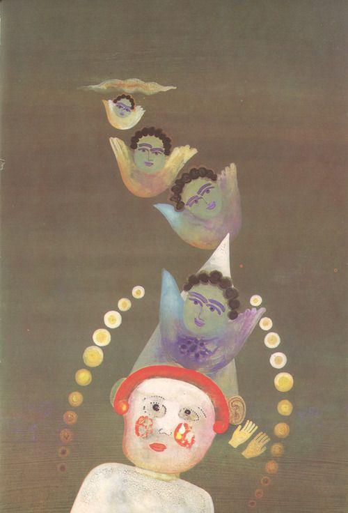 llustrations by Eva Bednářová for 'Pohádky' (Fairy Tales) by Olga Scheinpflugová  (Prague, 1971)