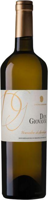 Don Giovanni Vermentino DOC 2015     REBSORTE:    100 % Vermentino di Sardegna    MENGE:   0,75 Liter (Versandgewicht 1,5kg)     ALKOHOLGEHALT:   13,50%, enthält Sulfite    FARBE:    Frisches, helles Gelb mit...