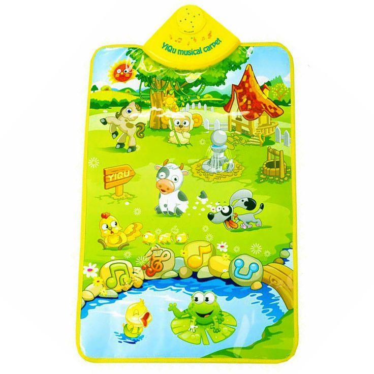 Bambino Tappeti Gioco Bambini Giocattoli Educativi mat mat for Children Animali da fattoria Tabella Suono Cognitivo Gioco Musicale Tappeto per il Bambino giocattoli