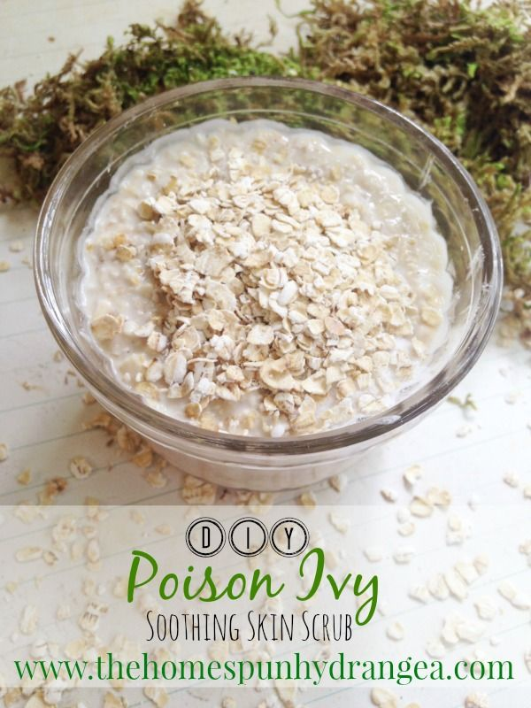 Say goodbye to scratching when you whip up a batch of this homemade poison ivy scrub. It will help dry the rash, provides itch relief, and cools your skin.