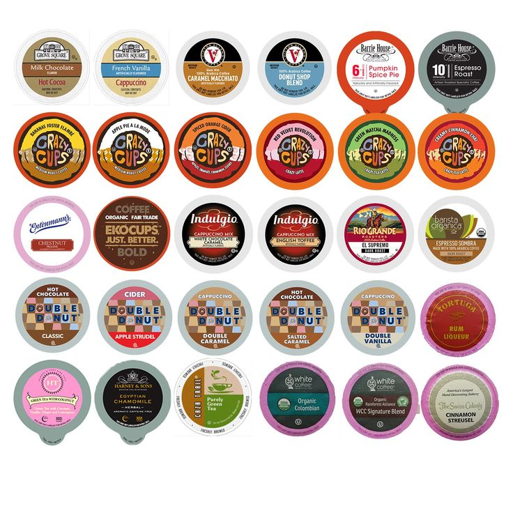 Coffee, Tea, Cider, Cappuccino and Hot Chocolate Single Serve Cups For Keurig K Cup Brewers Variety Pack Sampler, 30 Count (Mix Sampler): Amazon.com: Grocery & Gourmet Food | @giftryapp