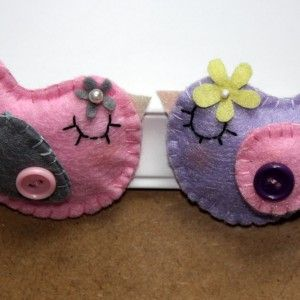 picture frame with felt birds