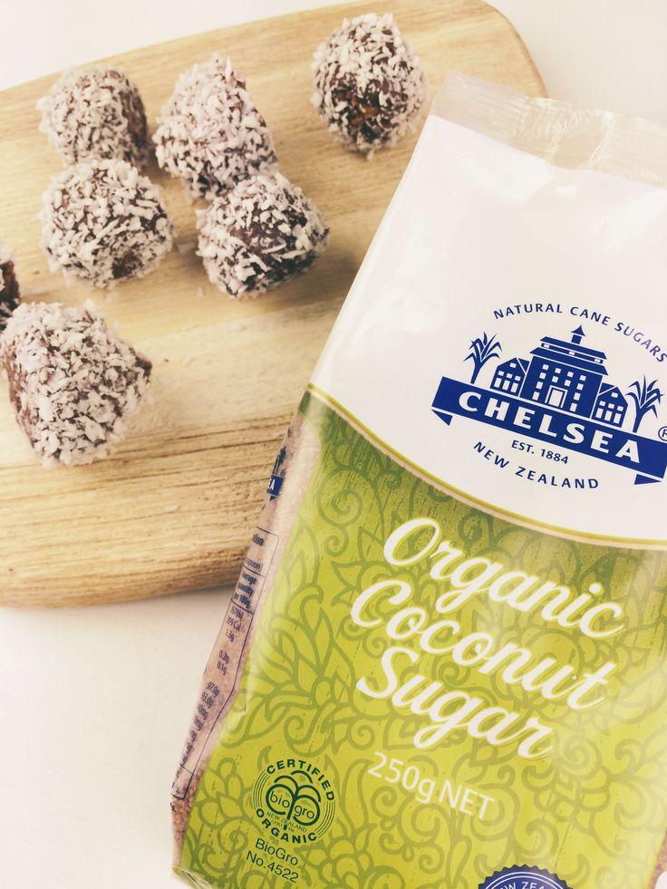 Coconut Rough Cookie Dough Bites - nzgirl #chelseasugar