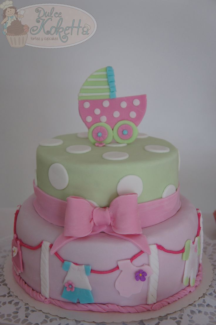 Baby Shower Cake. Torta para una niña