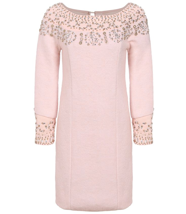 Pink Long Sleeve Beading Dress 41.99