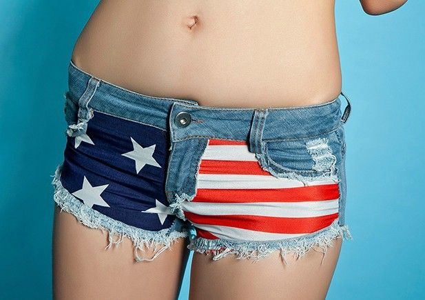 Short ultra court american flag denim - Collection 2013
