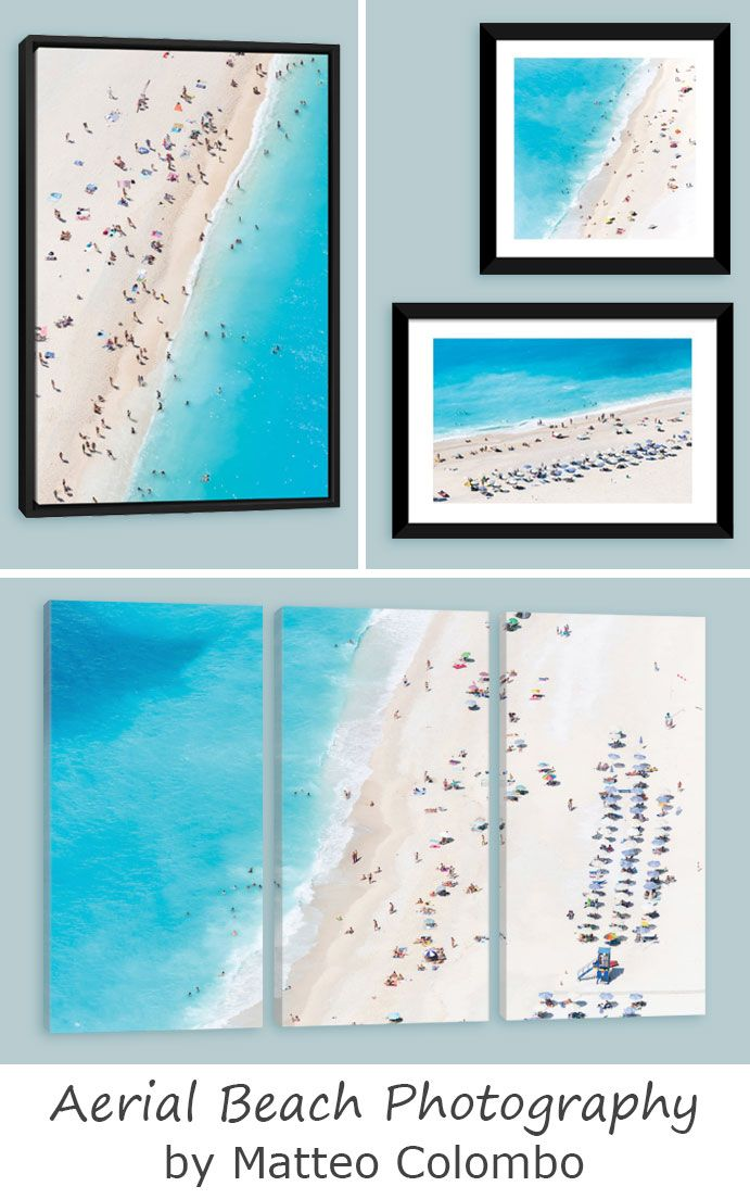 Want to find artists similar to Gray Malin? Make sure to check out Matteo Colombo and his aerial beach canvas prints!