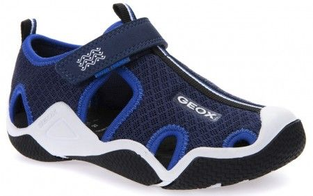 Geox Wader Navy Blue Sandals - Geox Kids Shoes - Little Wanderers