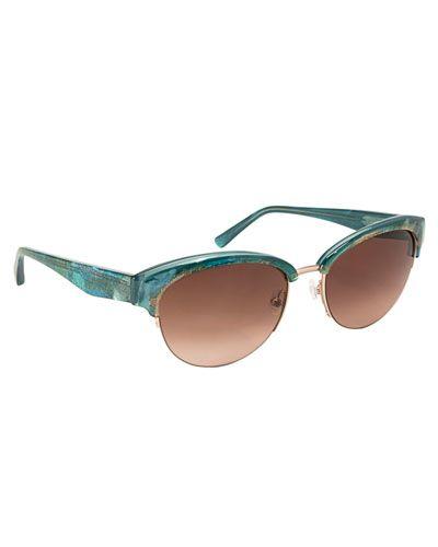 Bernadetta Semi Rimless Sunglasses by Badgley Mischka - $160.00