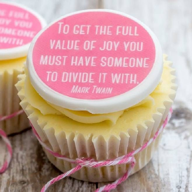 Mark Twain Quote Cupcake Toppers