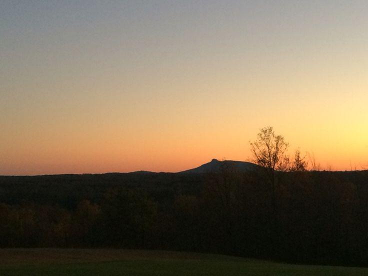 Stunning Pilot Mountain Sunset