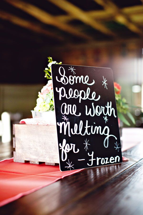 Display Love Quotes From Your Favorite Movies On Your Reception