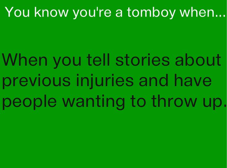 how to start off a tomboy