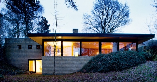 Exterior of ultra-cool Danish home.
