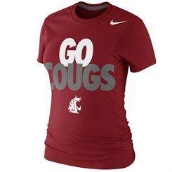 Nike Washington State Cougars Women's Crimson Local Slim Fit T-Shirt