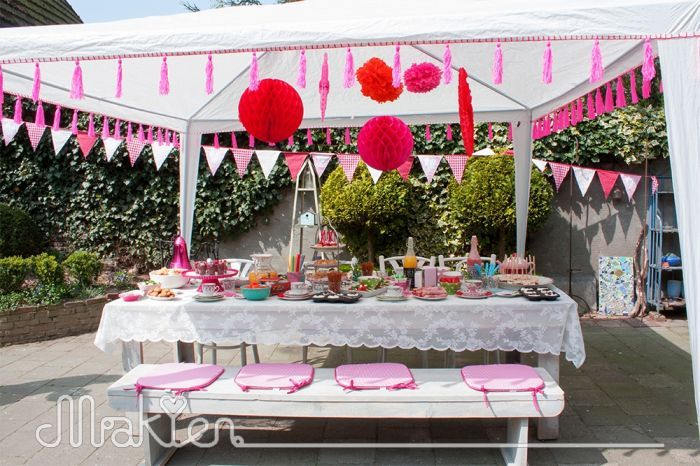 DIY Partytent pimping | Makien Verkroost Interior Design + Styling