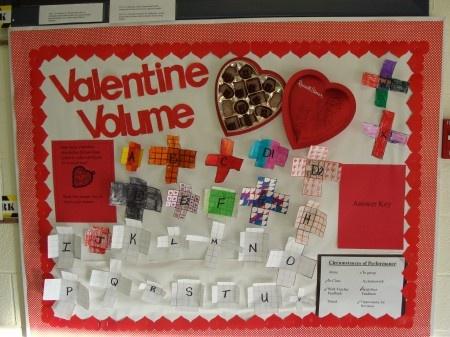 .Valentine'S Day, Valentine Volume, Schools, Classroom Bulletin Boards, Math Bulletin Boards, Volume Bulletin, Bulletinboards, Classroom Ideas, Boards Ideas
