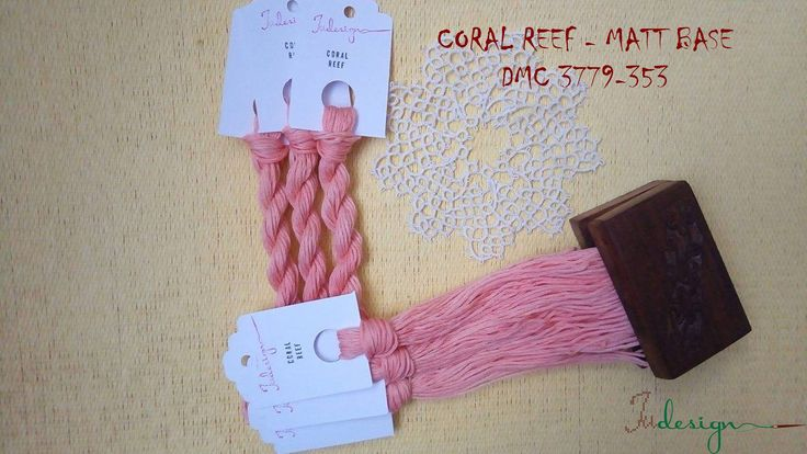 Hand painted matt cotton floss CORAL REEF hand dyed thread for embroidery, cross stitch, punto cruz, point de croix, blackwork by xJudesign on Etsy