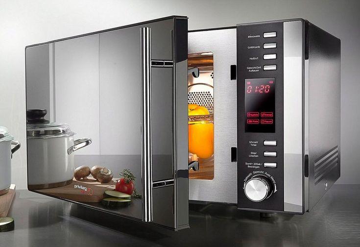 Privileg 3-in-1-Mikrowelle AC925EBL Edition 50, Heißluft und Grill, 25 Liter, 900 Watt