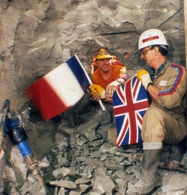 When both sides of the channel tunnel first met (1990).