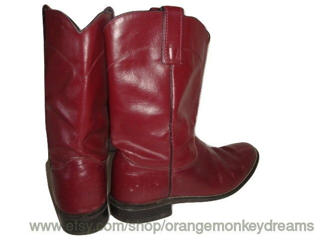 A personal favorite from my Etsy shop https://www.etsy.com/listing/250860761/vintage-texas-roper-boots-red-wine