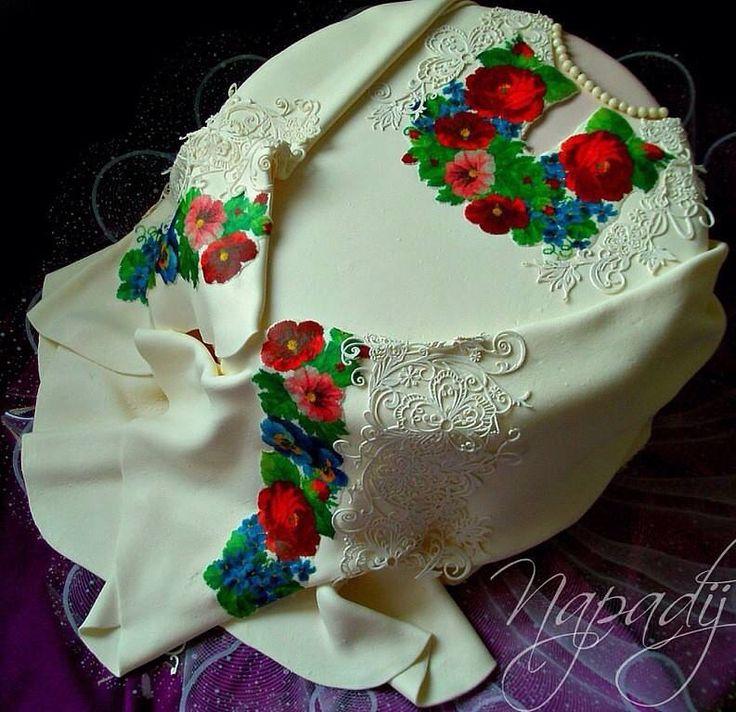 Ukrainian cake dress