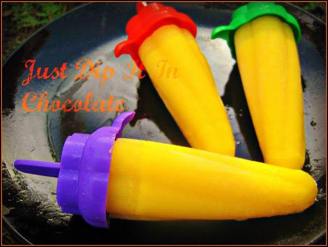 Just Dip It In Chocolate: Homemade Slow Melt Orange Cream Popsicle Recipe