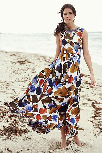 1000 images about maxi addict on pinterest strapless for Anthropologie mural maxi dress