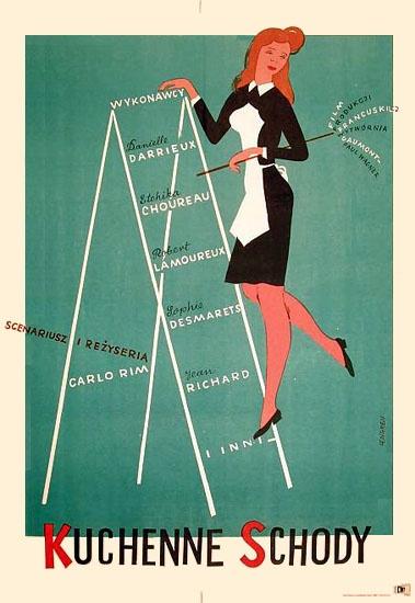 1956 Zbigniew Lengren - Escalier de service