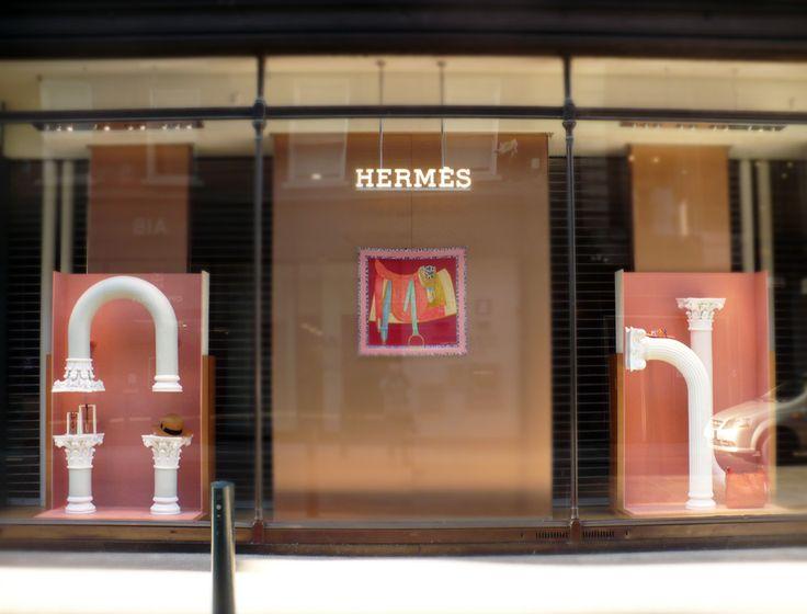 Hermes window display in Brown Thomas, Grafton Street