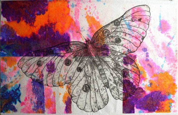 "Saatchi Art Artist Daniela Carletti; Painting, ""Butterfly, volo n.1-on exhibition"" #art"