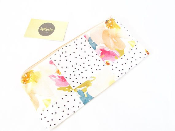 DOTS PASTELS & FLORALS. Small Fancy Pouch. Cute Christmas