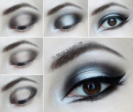 Gothic Makeup / Step by Step Tutorial #lizbreygel #silver #smoky