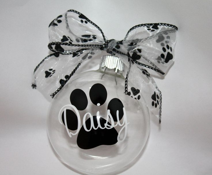 via in   Personalized   paw         craft Ornament trainers Ornaments print   women Doggie chicago Christmas     Etsy
