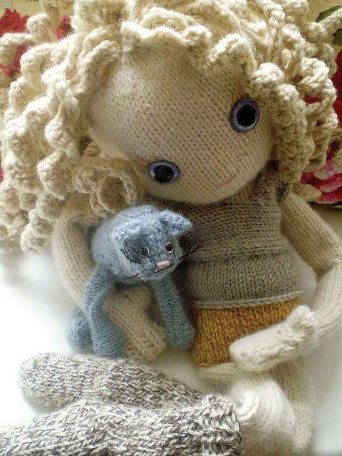 How To Knit Amigurumi Dolls : Pixie - new knitted doll pattern by Claire Garland ...