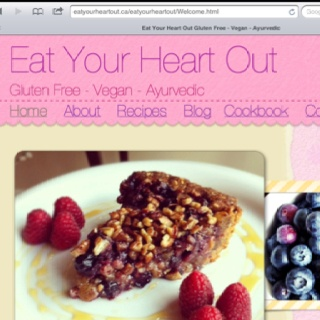 New website! Gluten Free, Vegan, Ayurvedic Recipes www.EatYourHeartOut.ca