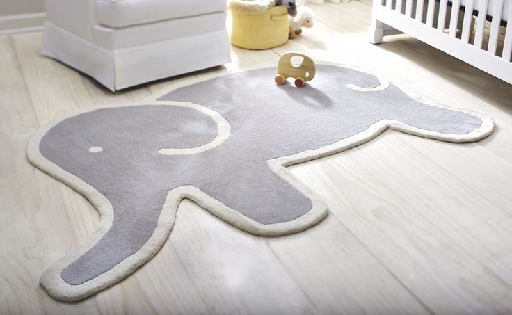 This adorable Martha Stewart Living elephant rug is the perfect finishing touch to your childs bedroom, available exclusively at Home Decorators Collection.