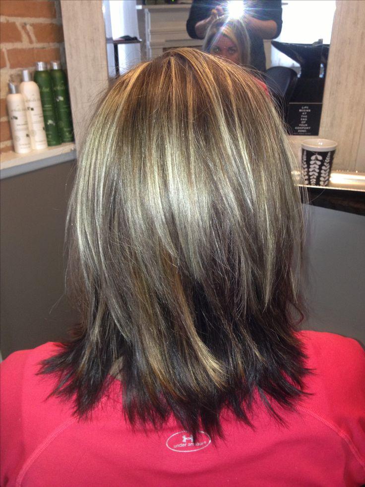 Layers! Medium length hairstyle.