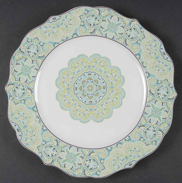 Lyria Teal Dinner Plate by 222 Fifth (PTS)