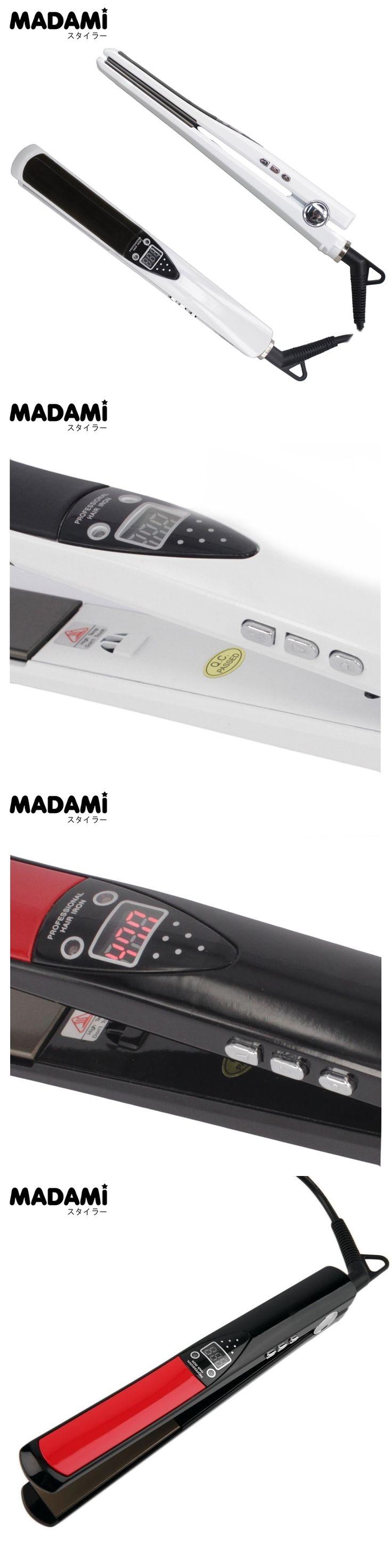 Professional Styling Tool LCD Display Titanium plates Straightening Iron MCH Hair Straightener High Temperature Fast Heating