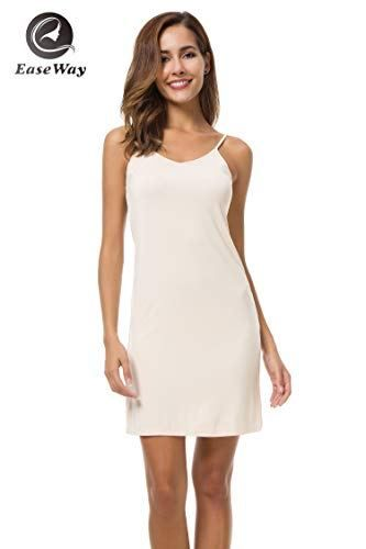 c347a561a5c EaseWay Women s Basic Adjustable Spaghetti Strap Cami Under Mini Dress