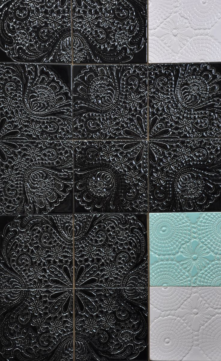 "Handmade tiles ""lace richelieu"". Design and construction Inżynieria Designu  www.inzynieriadesignu.pl"