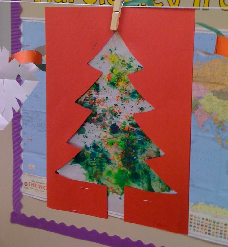 Melted Crayon Wax Paper Holiday Crafts