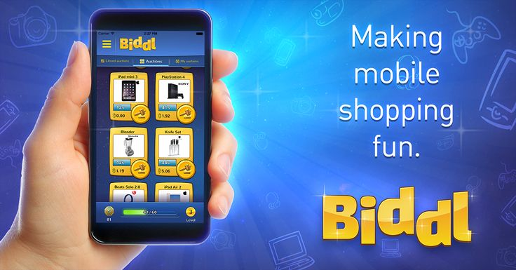 Biddl, the world's first mobile shopping game, now available on iOS and Android. Download Biddl NOW and Get 5 FREE BIDS at https://get.bill.com