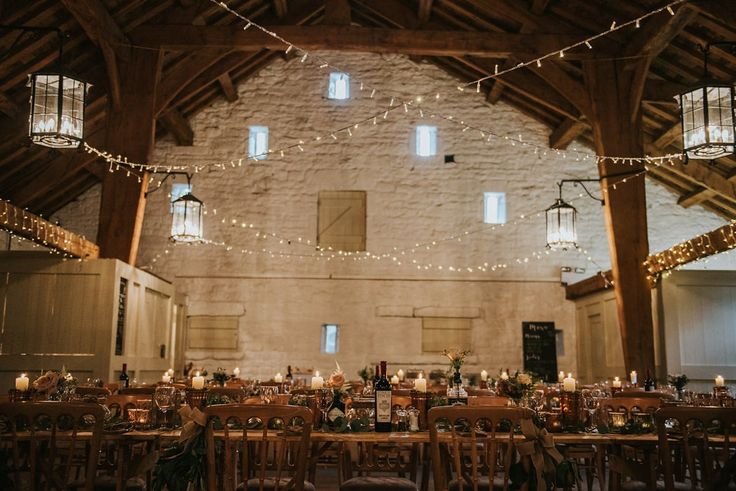 A Fairylight Filled, Rustic and Natural Barn Wedding. Photography by Natalie Pluck