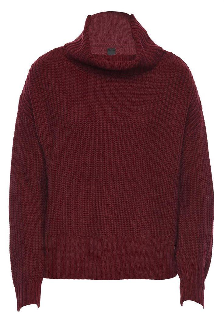 dreamy day knit - 100% Acrylic - Crew neck rib knit with stepped hem and side split