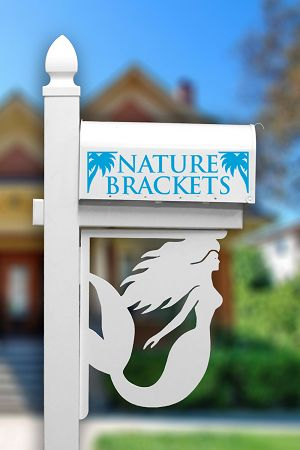 Mermaid Decorative Mailbox Corner Bracket | NatureBrackets.com