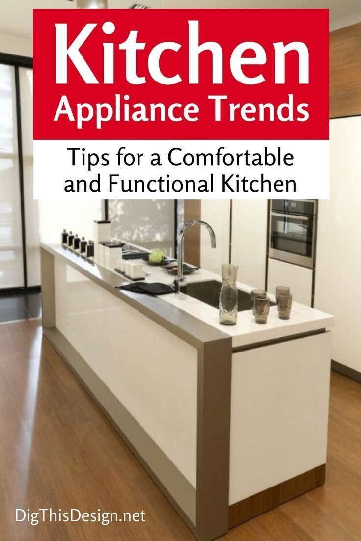 Contemporary kitchen design is trending and appliance trends are following suit. Along with aesthetics, technology is advancing. See what's new. #kitchen #home #appliance #NewHomeAppliances