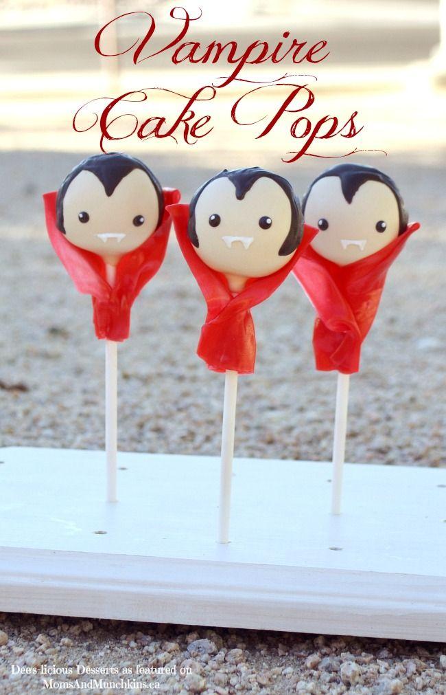 Vampire Cake Pops // cakepops de vampiros
